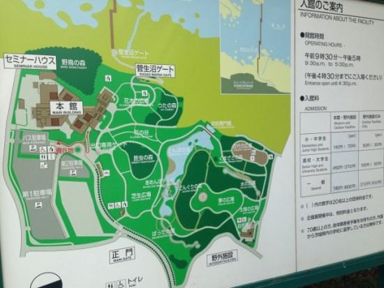 自然博物館のマップ