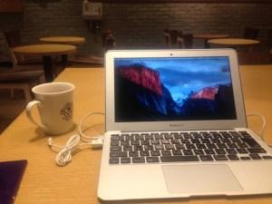 コーヒービーンとMacBookAir