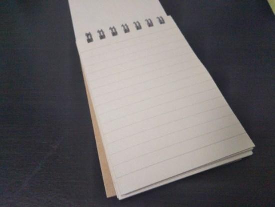 無印のメモ帳の内容