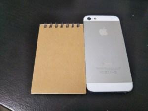 メモ帳とiPhone5