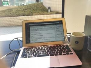 MacBook Airでブログ執筆