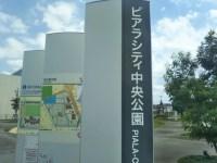 新三郷の近くピアラシティのばしゃばしゃ池と遊具で子供が大はしゃぎ