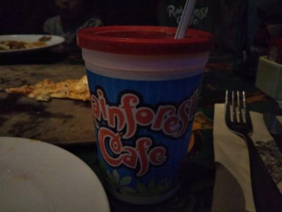 レインフォレストカフェのジュース