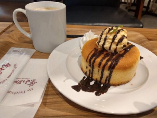葉山珈琲のホットケーキ