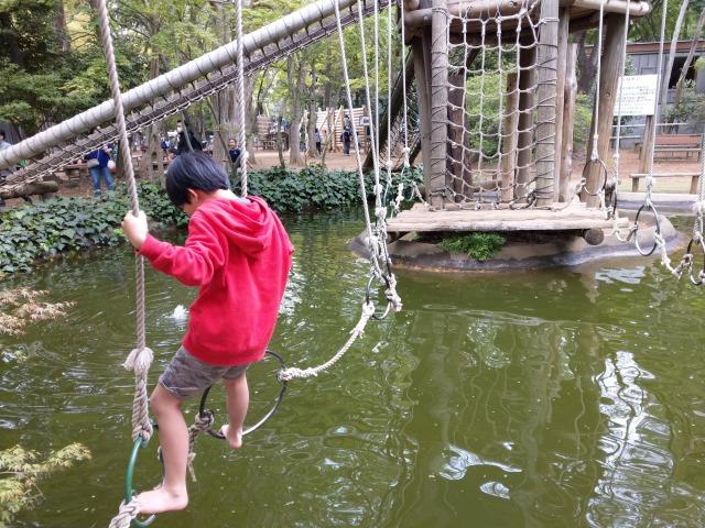 5歳の子供と清水公園のアスレチック。水上コースはやらない・幼児は制限あるけど楽しめる