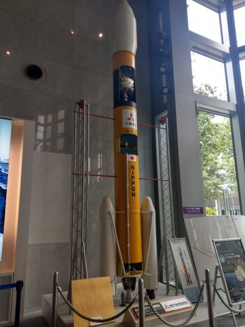 三菱みなとみらい技術館のロケット