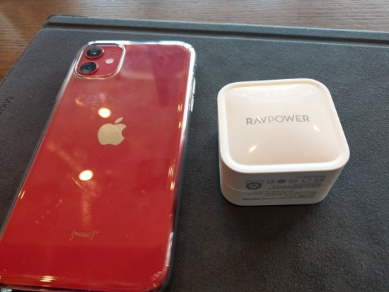 iPhoneと急速充電器