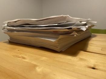 掃除・整理で大変だったのは紙の処分!中途半端なペーパーレスでは紙はたまっている