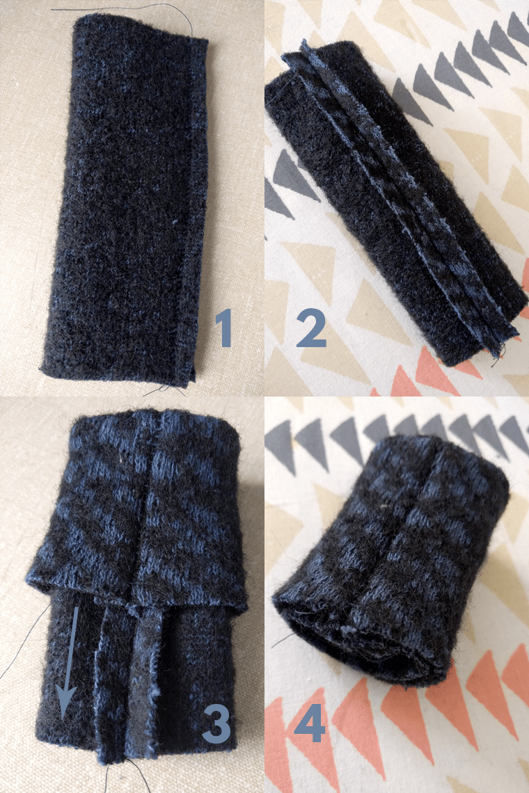 Sewing cuffs for the Seamwork Oslo cardigan is slightly tricky. Check out these four sewing steps.