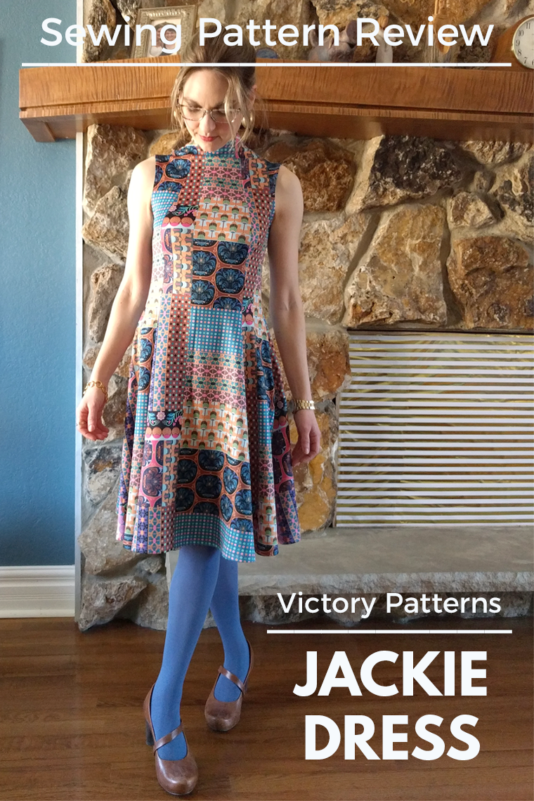 Victory Patterns Jackie dress has a 1970s vibe but works wonderfully for the stylish modern sewist. Keep reading for construction details and sewing tips.