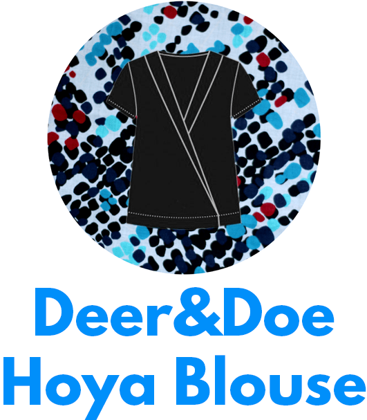 The Deer&Doe Hoya blouse is one of my capsule wardrobe sewing patterns.