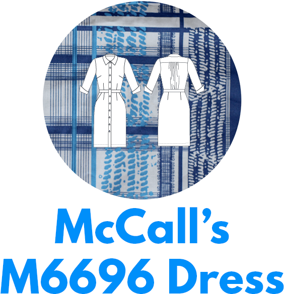 McCall's M6696 shirtdress is one of my capsule wardrobe sewing patterns.