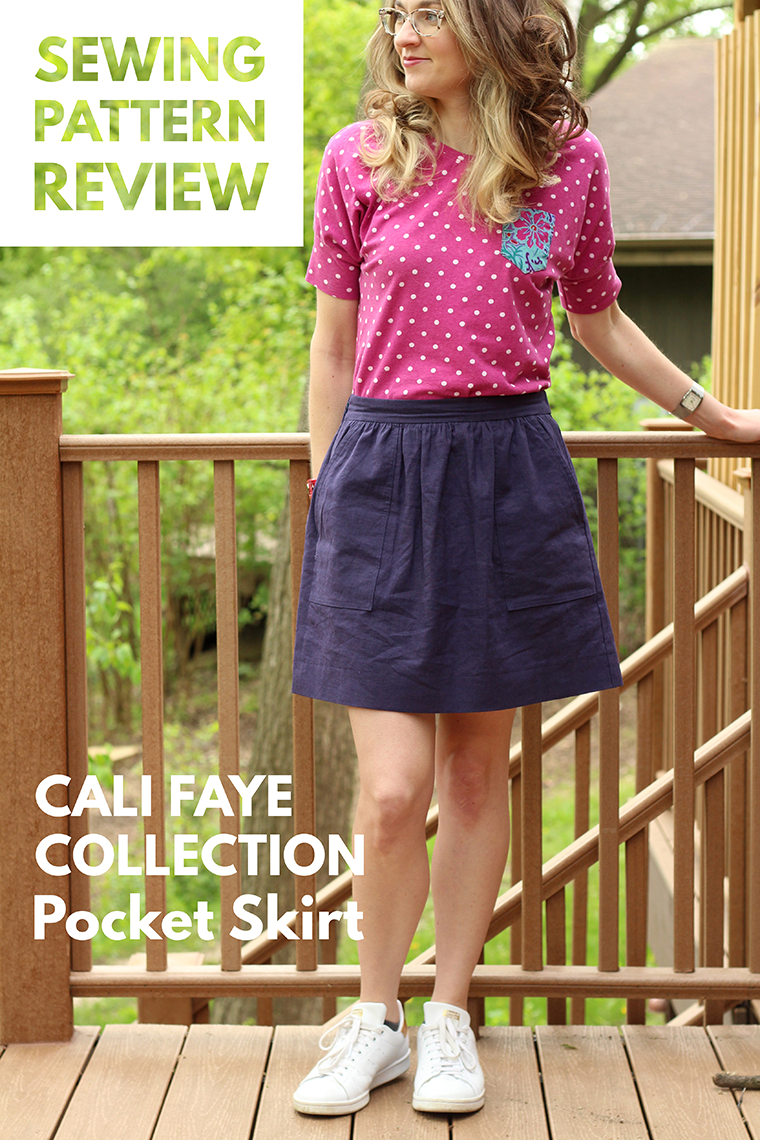 The Cali Faye Collection Pocket skirt is a cute gathered skirt perfect for warm weather. Check out my sewing details and tips for how to use basting tape.