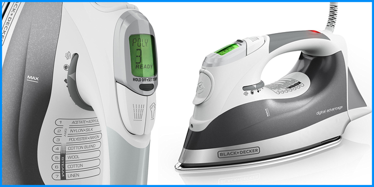 This Black + Decker is the No. 1 iron on Amazon. It's a strong option for an iron for sewing.