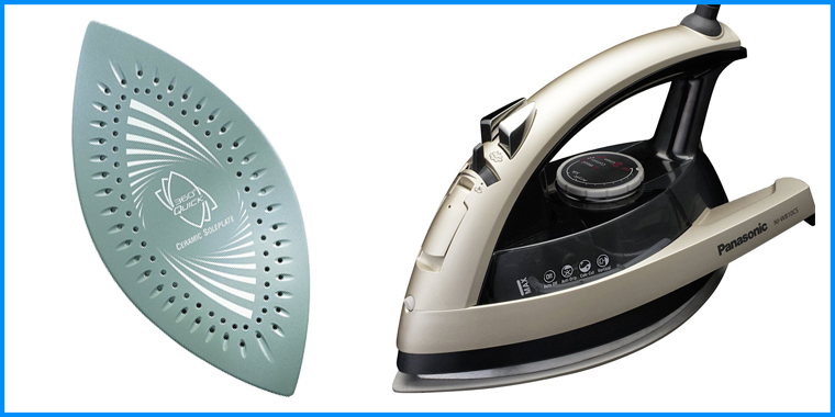 This iron for sewing from Panasonic features a dual-tipped soleplate.