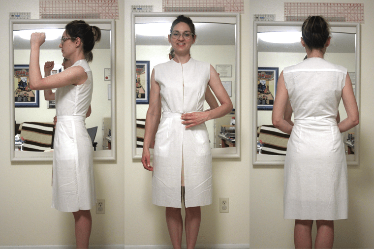 Here's where I'm at with fitting McCall's M6696 shirtdress.