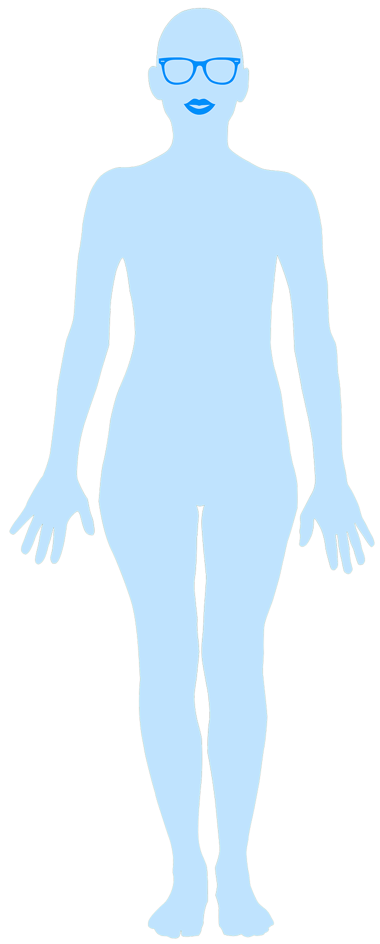 Here's a look at my figure outline without measuring marks.