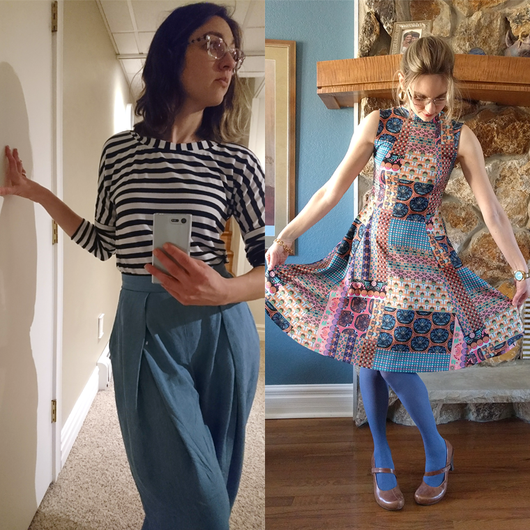Victory Patterns Esther pants and Jackie dress.