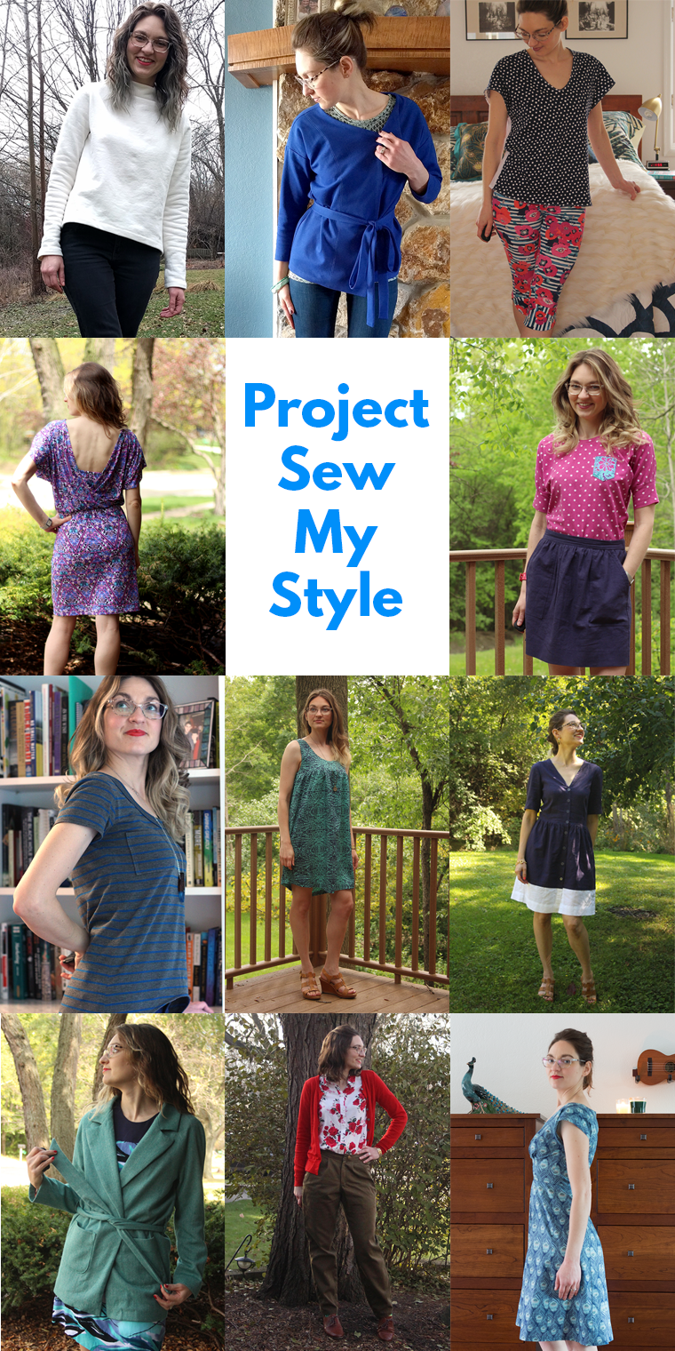 I completed 12 garments for Project #SewMyStyle in 2017.
