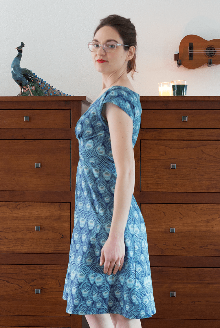 A side view of the By Hand London Anna dress.