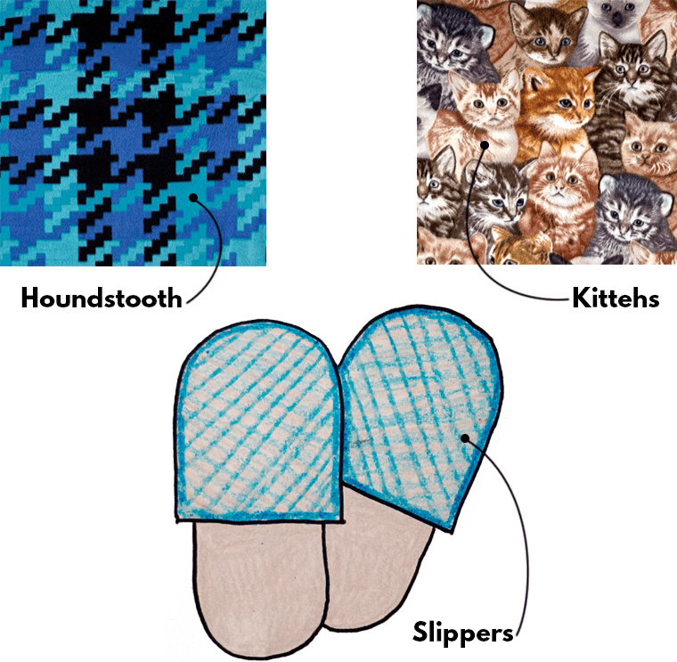 Aaaahhh, homemade slippers and socks are comforting projects to stitch when sewing for your period.