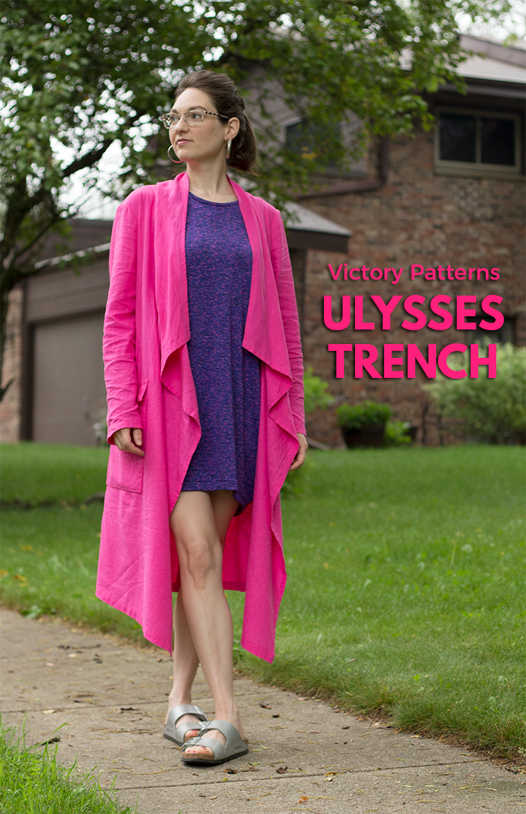 I sewed the Victory Patterns Ulysses trench. It's a modern take on the classic outerwear garment.