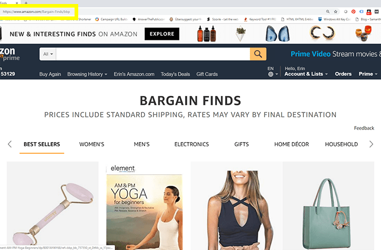 Amazon Bargain Finds is a secret on the online retailer's desktop site. However, it's easy to access via mobile and the app. What the hey?