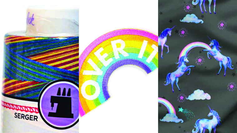 Sneak a rainbow into the details of a garments - a secret patch, a unicorn lining, rainbow serger thread.