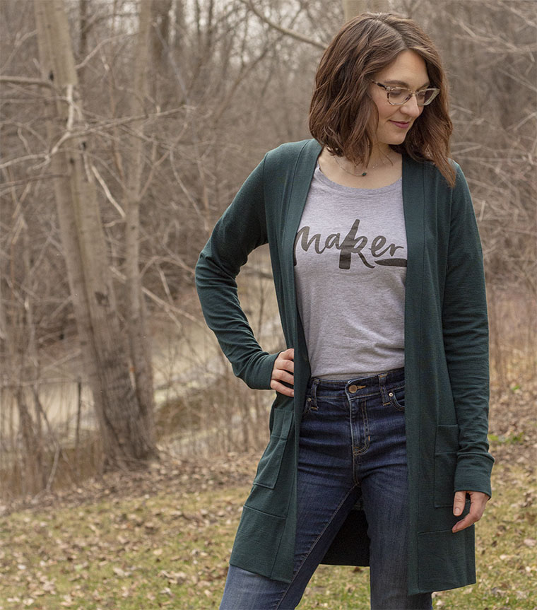 The Blackwood cardigan is a fast and reward sewing project.