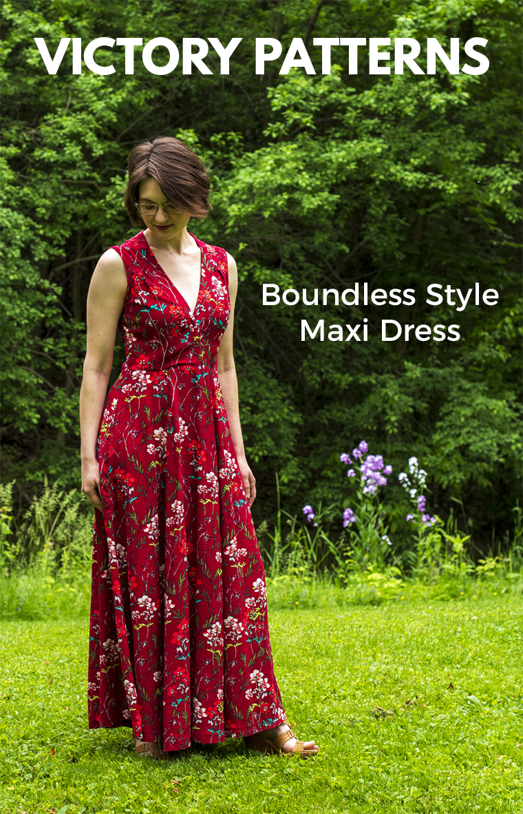 "I sewed this rayon maxi dress with a pattern from ""Boundless Style,"" the mix-and-match sewing pattern book from Victory Patterns."