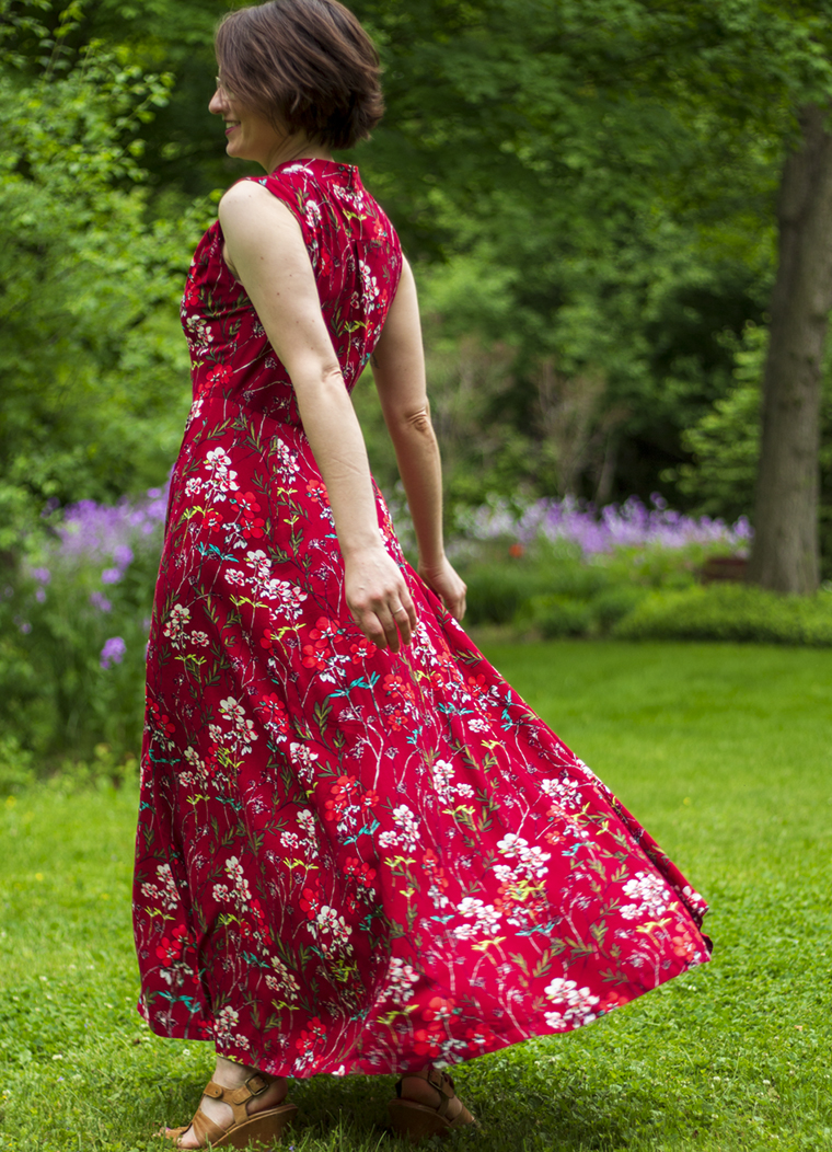 "Spinning in a floaty maxi dress is FUN! This beaut is from Victory Patterns' ""Boundless Style."""