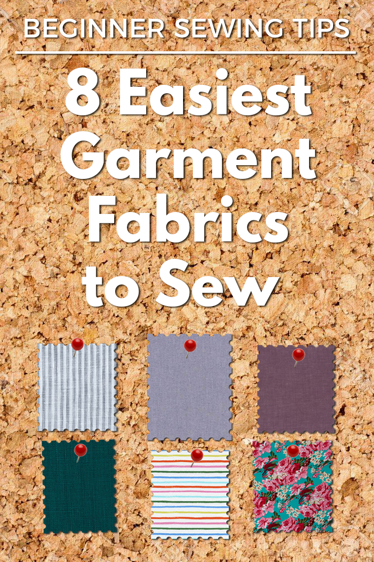 """Easy fabrics to sew are great for beginners AND experienced sewists alike. Forgiving fabric makes just about any sewing technique more pleasant, and sewing with """"easy"""" fabric usually is faster and more accurate (vs. tricky material). If you want to better understand why forgiving fabrics are so great, what makes a fabric forgiving, and which fabrics fall into the """"easy to sew"""" camp, this post is for you."""