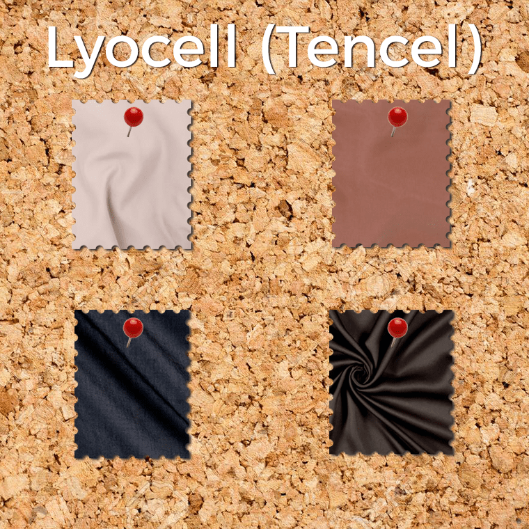 Lyocell, whose trademark is Tencel, is a drapey woven fabric that's pretty darn easy to sew.