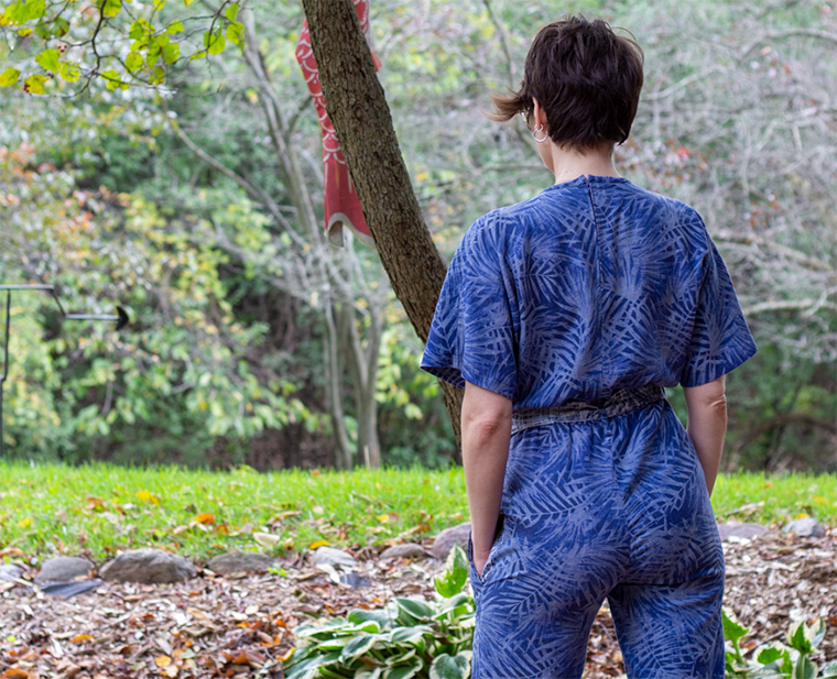 The Riva jumpsuit was featured in a 2019 edition of Fibre Mood magazine, a sewing pattern magazine.