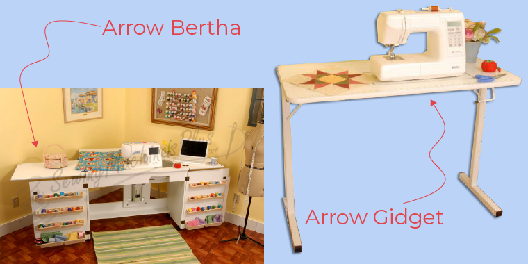 Sewing table options from Arrow.