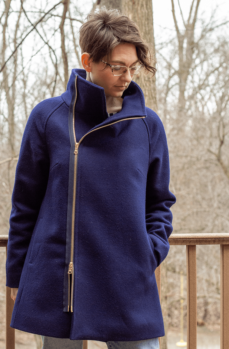 Sewing this wool coat pattern from Closet Core Patterns was a journey.