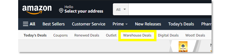 Amazon's Warehouse is filled with pre-owned and open-box products.