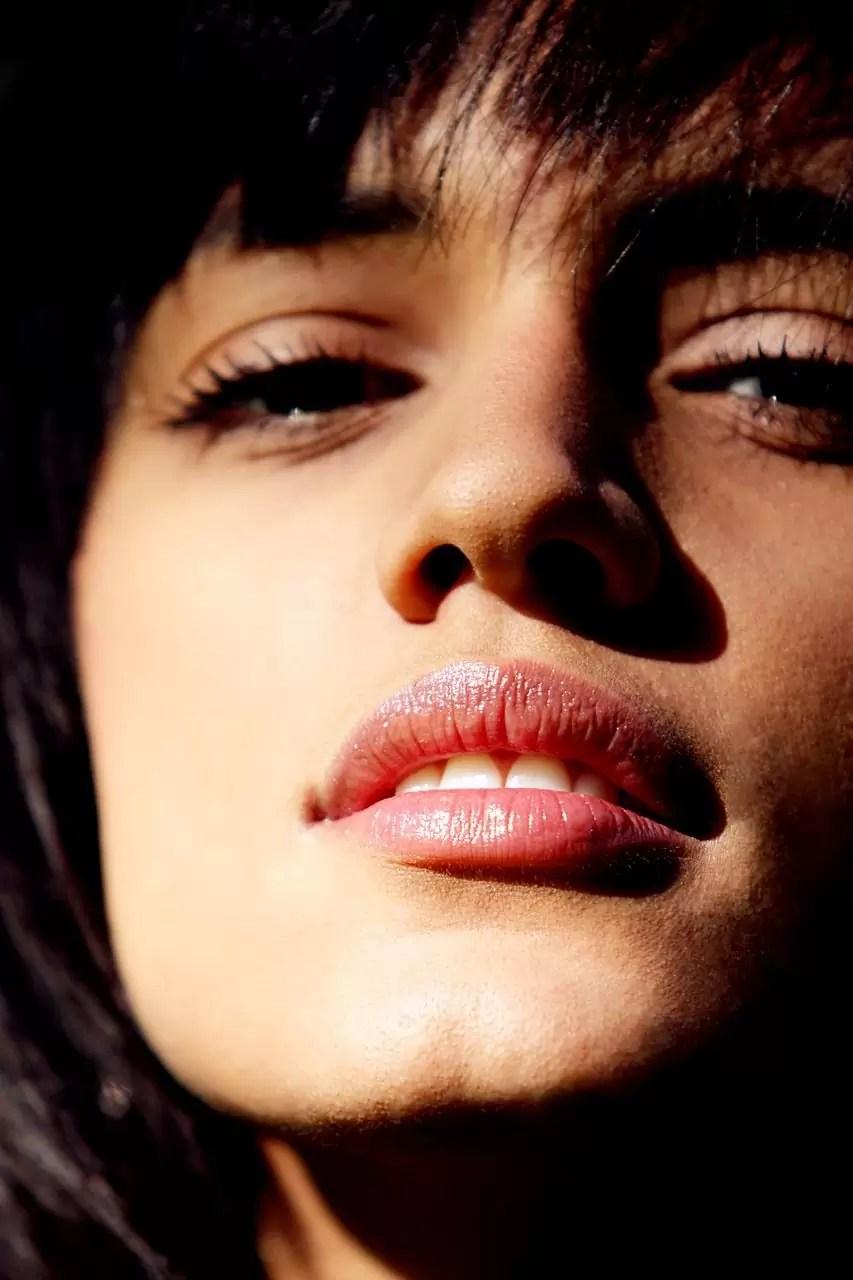 primer plano labios perfectos