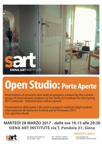 Open Studio 28 marzo