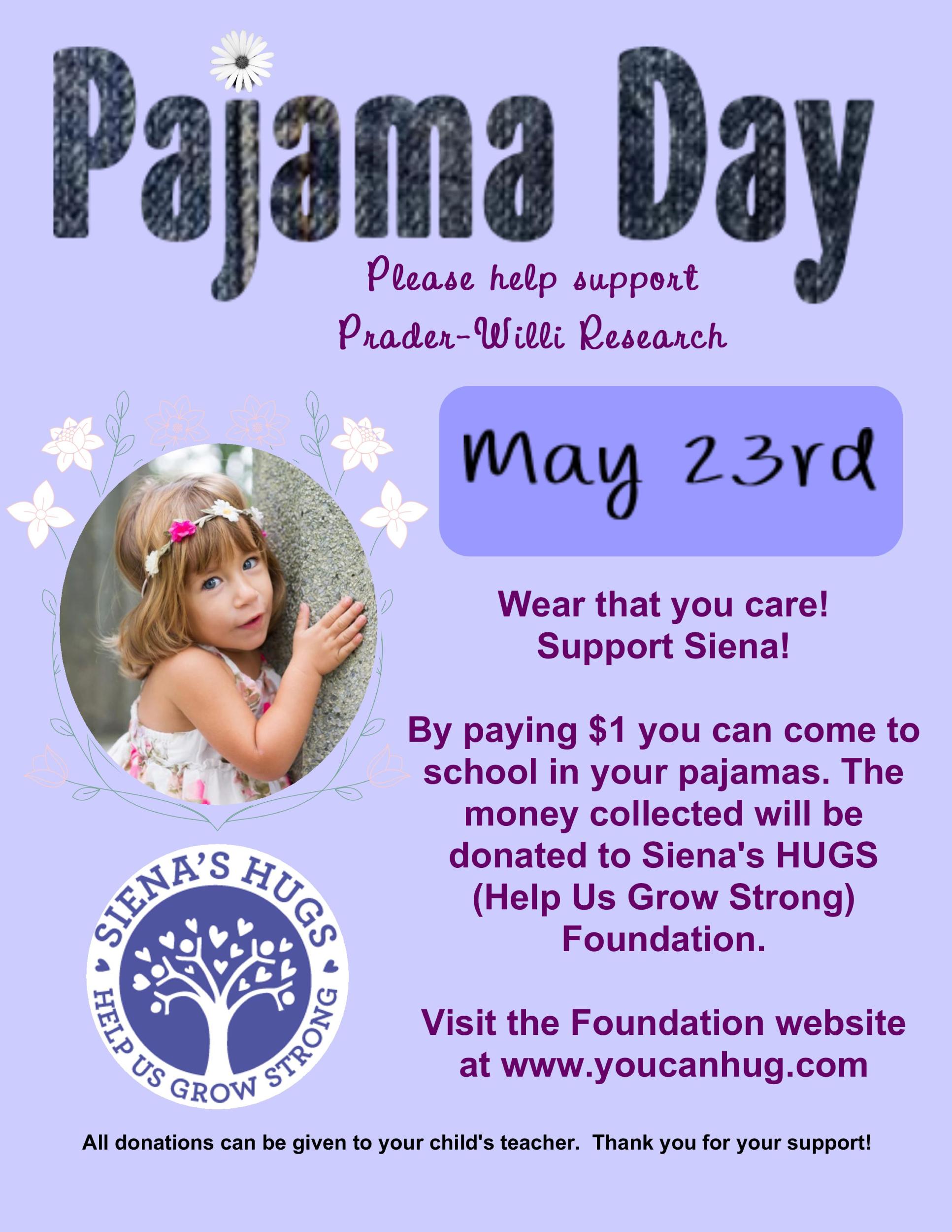 Pajama Day Pws Awareness At School Week
