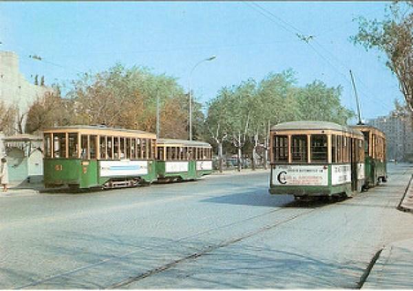 6-Paseo de Cuéllar 1969 _ Cruce de tranvías de la línea 5 (Tor… _ Flickr_files