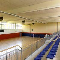 Image : gymnase du Sierck Futsal Club à Sierck-les-bains vu des tribunes