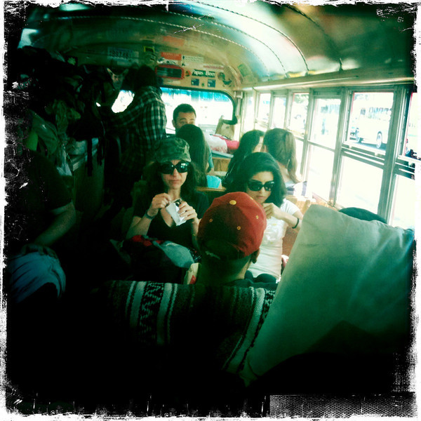 Riding Gus the eco bus.
