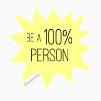 Be a 100% Person