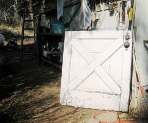 Dutch door before-the white side