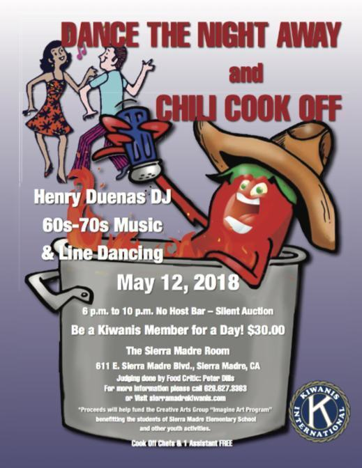 Sierra Madre Kiwanis dance and chili cook off