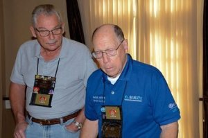 Sierra Madre Kiwanis Vern and Paul visiting Kiwanis Members from Division 35. Photo by Mary Lou Caldwell