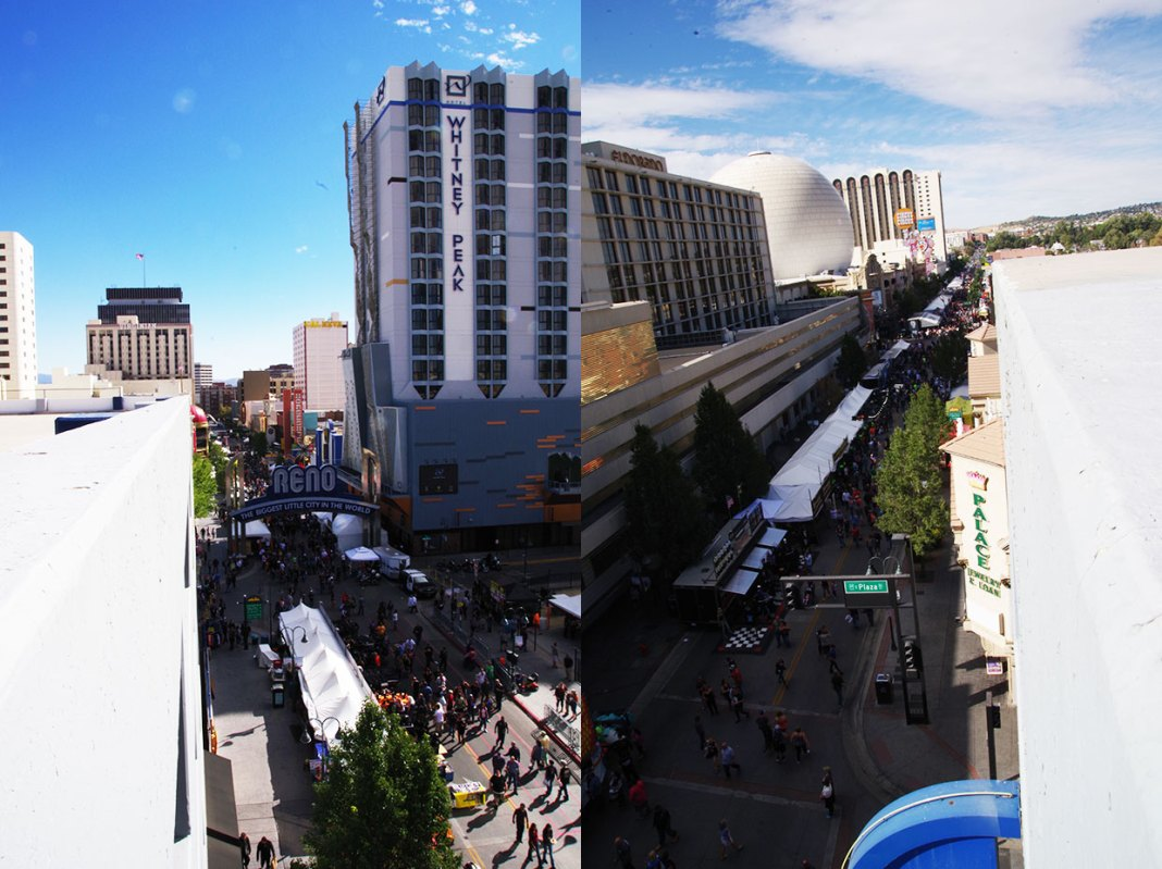The 2018 Street Vibrations Fall Rally in Reno, NV. Virginia Street in two directions - image - Brian Bahouth, Nevada Capital News.