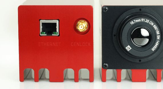Image showing GigE interface on Viento camera