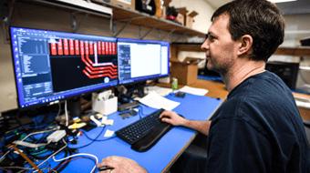 Sierra-Olympic electrical engineer at work